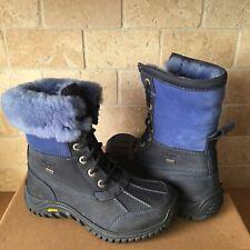 UGG Adirondack II Navy Blue Waterproof Leather Snow Boots Size 6 Womens