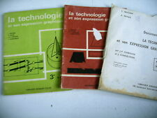 science TECHNOLOGIE ET EXPRESSION GRAPHIQUE lot 3