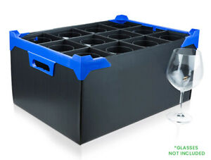 Large Wine Glass Storage Box - 12 Cells - Cell Size H260xD111mm - NV Boxes