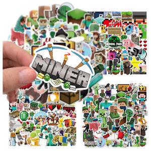 Minecraft Stickers Pack Cartoon Game Kid Laptop Phone Bike Notebook Decal 50PCS