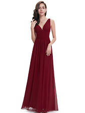 Long Formal Evening Prom Dress Burgundy Bridesmaid Dresses Mother of the Bride