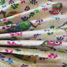 50x150cm Half Meter Cotton Linen Fabric DIY Craft Material owls Olive Branch F