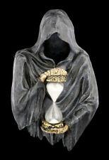 Reaper Wandrelief mit Sanduhr - Sands of Time - Wanddeko Skelett Eieruhr Deko