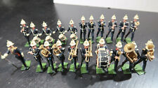 g Britains Toy Soldiers British Army Blue Uniforms White Helmets Marching Band