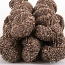 500g Pure Wool *IRISH DONEGAL TWEED*Aran Brown Mocha knitting yarn Kilcarra 100%