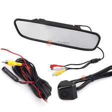 "4.3"" TFT Mirror Monitor Car Rear View Backup Reverse System W/ mini Camera Kit"