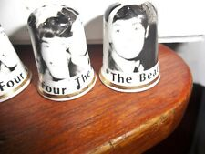THE BEATLES 4 BONE CHINA THIMBLES BRAND NEW. MADE IN ENGLAND FOUR THIMBLES FAB !
