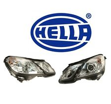 Mercedes W212 E350 E400 E550 E63 Halogen Left & Right Headlight Assemblies HELLA