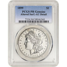 1899 US Morgan Silver Dollar Proof $1 PCGS PR Genuine AU Detail Altered Surface