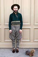 Herren Pullover grün green Strick knitted 80er True VINTAGE 80´s men gelb yellow