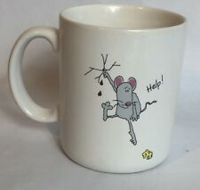 Hallmark Mugs HELP Rat Mouse With Finger Plugging Hole in Dam Cheese Coffee Cup