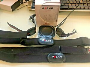 POLAR FT7 HEART RATE MONITOR 2 WATCHES, 2 CHEST STRAPS AND ONE POLAR FLOWLINK