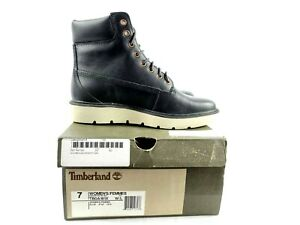Timberland Kenniston Premium 6 Inch Black Women Boots Size US 7 Lace Up TB0A161X