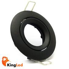 Support de phare encastré Noir Opaque Trou 75mm Ouverture Frontale pour