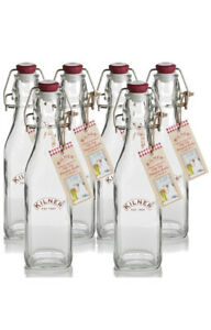 6 X Kilner 0.25lt Bottle