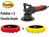 DAS6 240v Polisher Buffer & Farecla G Mop 1 Yellow & 1 Red Waffle Compound Pads
