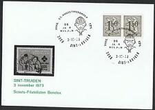 Belgium: 1971 & 1973 Scouting cards with pictorial postmarks TS321