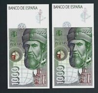 Spain 🎇 1992 🎇 1,000 pesetas x 2 banknotes 🎇 Collections & Lots #77275 UNC!!!