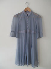 FREE PEOPLE Victorian Mesh Dot Periwinkle Purple Soft Blue Sheer Dress Sz XS