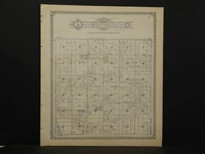 Minnesota  Dodge County Map Westfield Township  1937   J12#03