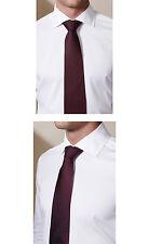 Men's Silk Tie - Tabit Pindot in Burgundy Bolvaint Paris 100% Silk Handmade $280