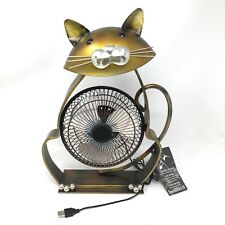 DecoBREEZE Table USB Fan with Adapter Electric Circulating Cat Shaped Tilting