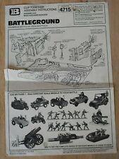 Britains - Catalogue n° 4715 -  Battleground - instruction leaflet
