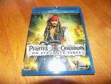 PIRATES OF THE CARIBBEAN ON STRANGER TIDES BLU RAY DISC Johnny Depp Ian McShane