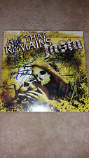 "ALL THAT REMAINS / JASTA SIGNED AUTOGRAPHED 7"" EP COVER #A"