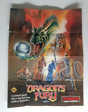 Dragons Fury Poster for Sega Genesis