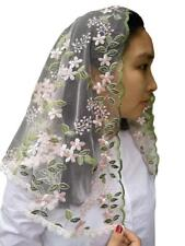 Church Head Veil Elegant Catholic Chapel Mantilla Head Cover Lace Light Tulle