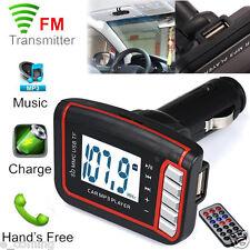 Car LCD Wireless FM Transmitter MP3 Player SD TF Card USB Drive Remote MMC 12V