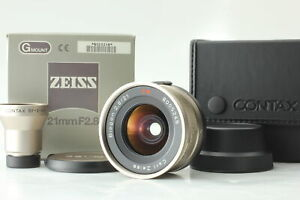 [Unused in BOX] CONTAX Carl Zeiss Biogon 21mm f2.8 for G2 + GF21 Finder JAPAN