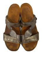 NOAT Sandals Shoes SLIP ON SLIDES Gray 2 STRAP SZ 39
