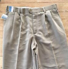 Breakwater Taupe Cuffed Dress Trouser Pants Slacks Double Pleated NEW 36/32(30)