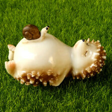 Sleeping Hedgehog Snail Fairy Garden Terrarium Figurine Home Shelf Decor Toy n7