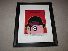 "Framed A Clockwork Orange Mini Poster, Alternate Usa 1971 14""x17"", Beautiful!"