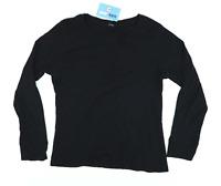 George Womens Size 16 Cotton Black Long Sleeve T-Shirt (Regular)