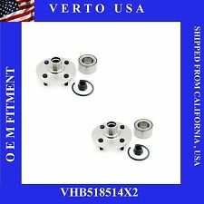 2 Front Wheel Hub Bearing Assembly+Lugs 94-01 Saturn SC SL SW Limited Life Time