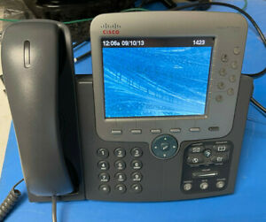 Cisco CP-7975G 8 Button Line VoIP Color LCD Touch Screen Phone USED Tested Works