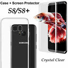 Samsung Galaxy S8 S8+ PLUS clear case cover and 4H anti-scratch screen protector