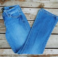 Lucky Brand 10/30 Womens Halsted Lola Boot Blue Jeans Light Wash Mid Rise L26