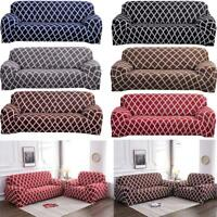 1/2/3/4 Seater Chair Sofa Cover Stretch Fitted Protector Couch Elastic Slipcover