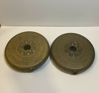 Vintage York barbell Weights Gold 5LBS 2x