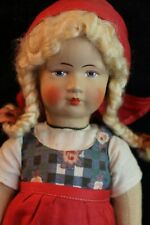 Antique Bing German Cloth Doll 10 In Antique Cloth Doll Girl Doll