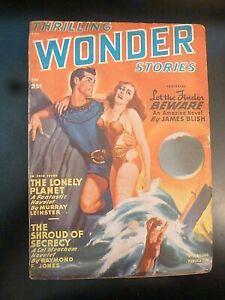 Thrilling Wonder Stories 12/1949, Ray Bradbury, Arthur C Clarke, Great Cover