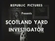 SCOTLAND YARD INVESTIGATOR 1945 (DVD) STEPHANIE BACHELOR, ERICH VON STROHEIM