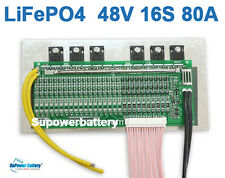 48V 80A LiFePo4 Battery BMS LFP PCM SMT System 16S 16x 3.2V eBike Battery 16x 3V