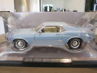 1:18 HIGHWAY 61 50457 1970 FORD MUSTANG CJ428 LIGHT BLUE *NEW*