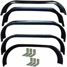 """More details for trailer twin axle tandem mudguards + mounting brackets fenders 10""""–16"""" wheels"""